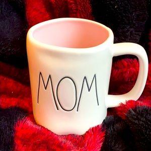 Rae Dunn MOM mug, pink inside coffee tea cocoa